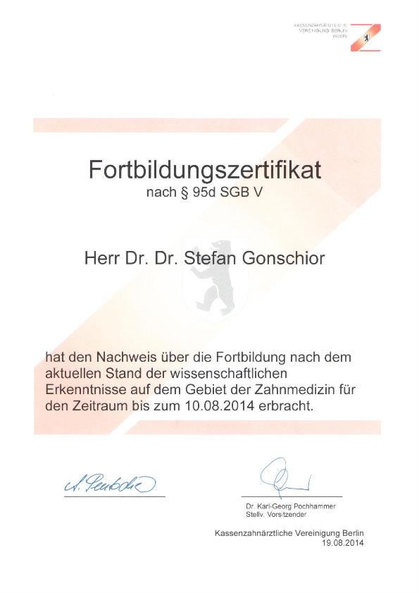Vita - Dr. med. Dr. med. dent. Stefan Gonschior